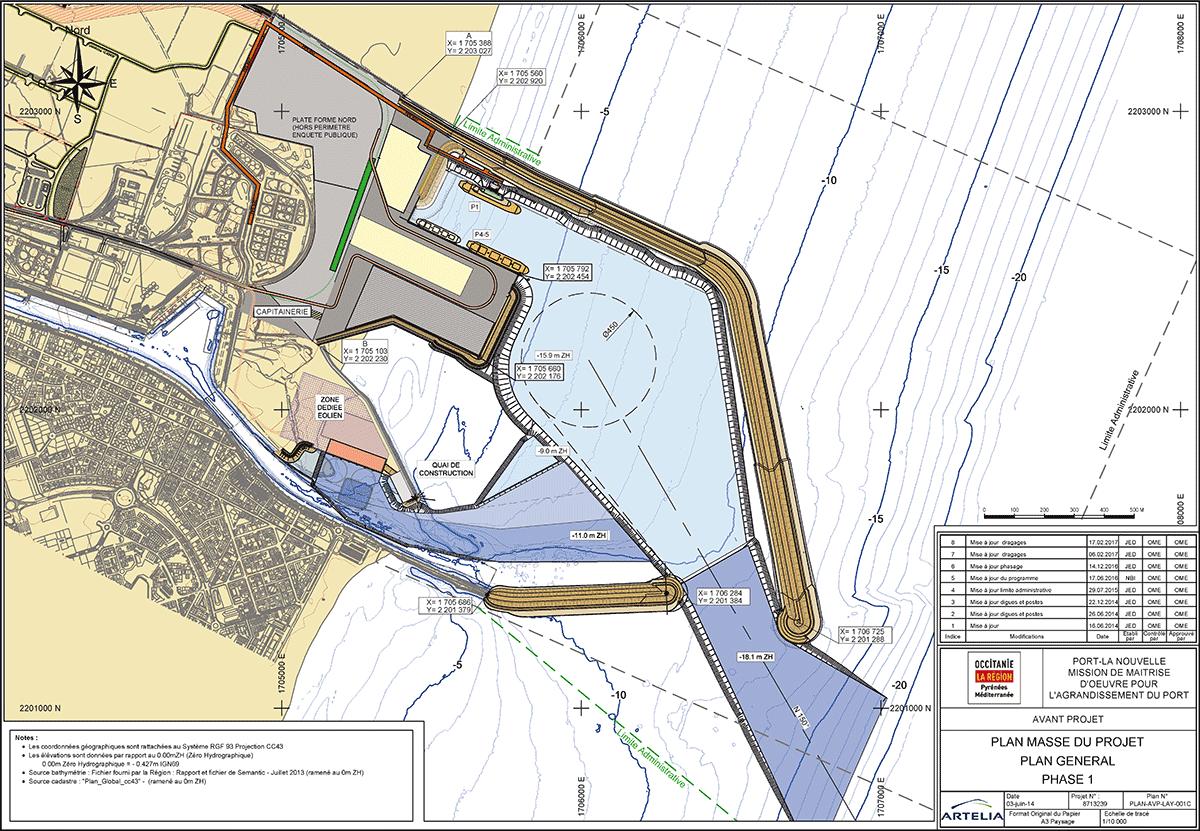 Deport Plan De Travail eolien flottant : l'agrandissement de port-la-nouvelle est