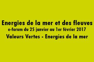 Energies de la mer et des fleuves