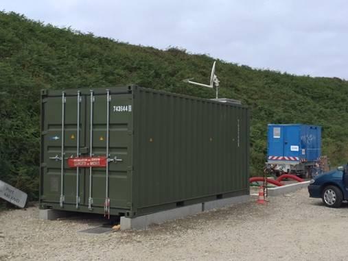 Sabella raccordée, containers intégrés.
