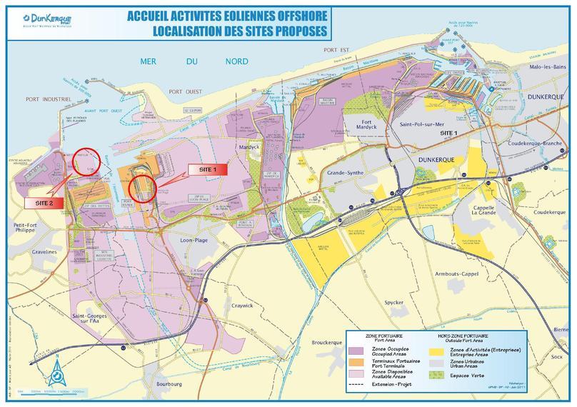 Dunkerque, zone choisie pour le 3è appel d'offre éolien offshore