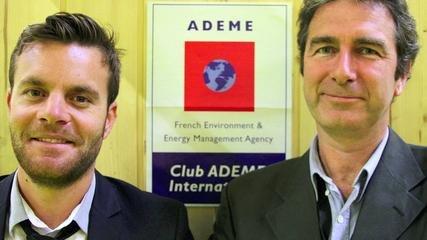 frederic mourier et nicolas james eco cinetic pour le club ademe international salon de la croissance verte 2014 x240 zdy