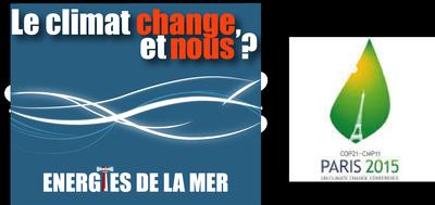 logo le climat change et nous cop21