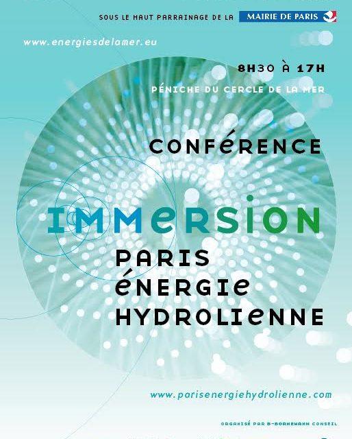 Bon démarrage pour la première édition d'Immersion – Energie Hydrolienne
