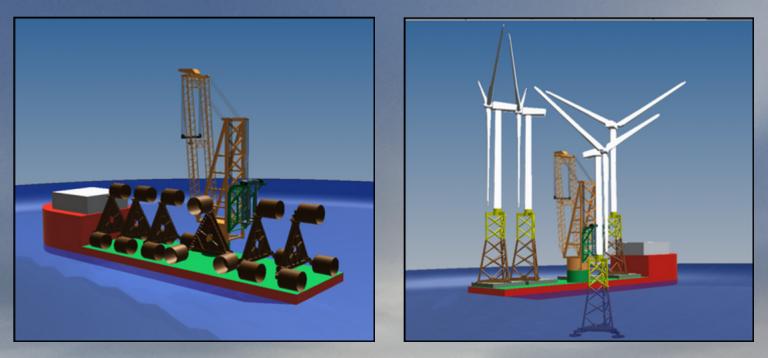 Eolien en Mer : une économie de temps de 30% à 50% pour la pose des fondations
