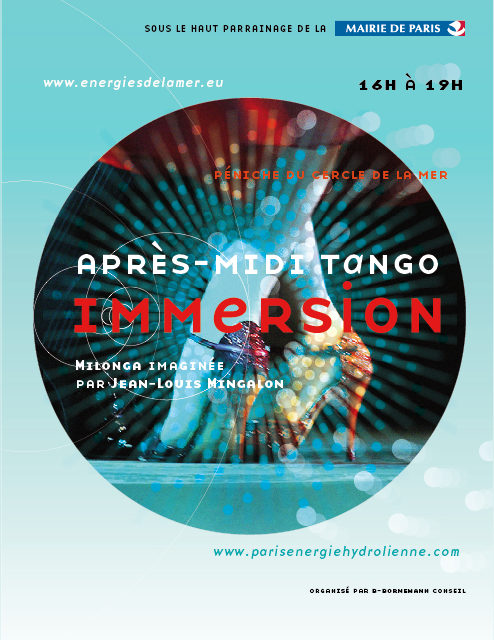 Concert et Café bal Tango à l'exposition «Immersion – Paris énergies renouvelables de la mer et des Fleuves»