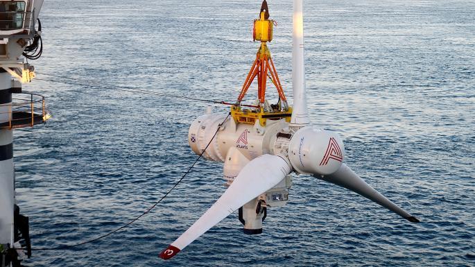 Hydrolien MeyGen – Atlantis installe en un temps record la 4è Turbine AR1500