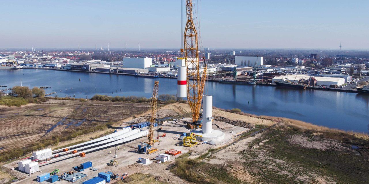 Adwen AD 8-180 bientôt prête pour ses tests à Bremerhaven