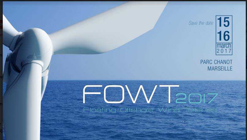 FOWT 2017 : dernier jour pour vous inscrire