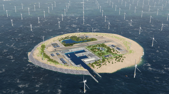 TenneT et Energinet lancent un nouveau concept : le Sea Wind Power Hub