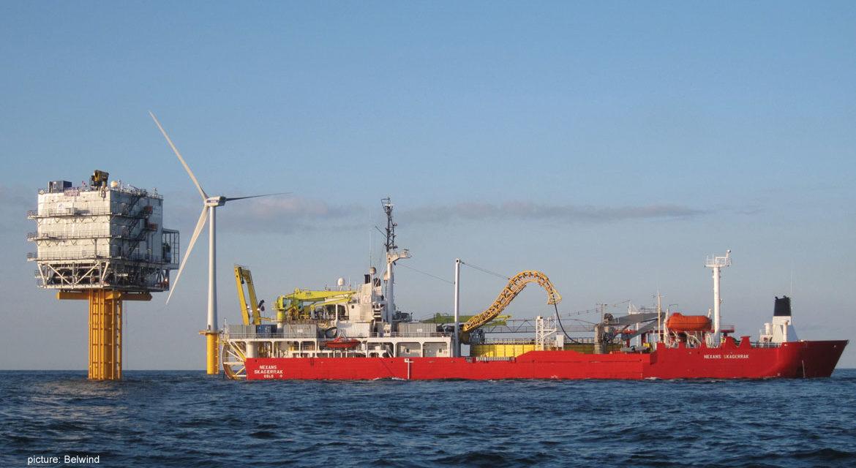 Eolien en mer : la dernière turbine dans le Nobelwind est installée