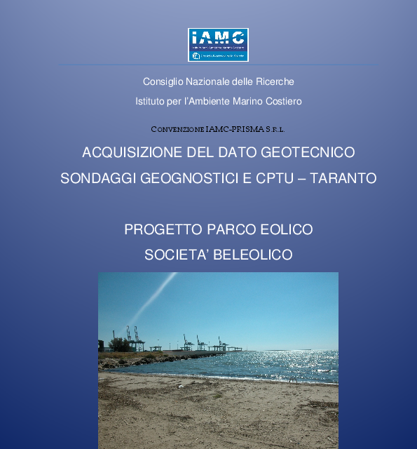 Report geotecnica Taranto