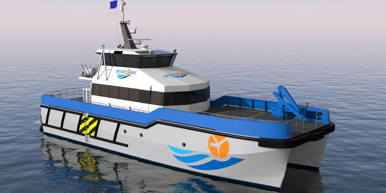 Wind Energy Marine commande deux navires de soutien à l'éolien en mer à Piriou