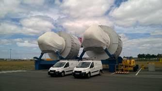 3 nacelles Haliade 150-6MW en partance pour la Chine