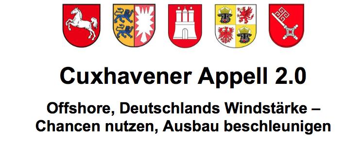 Allemagne : l'Appel de Cuxhavener 0.2 pour 25 GW en 2030