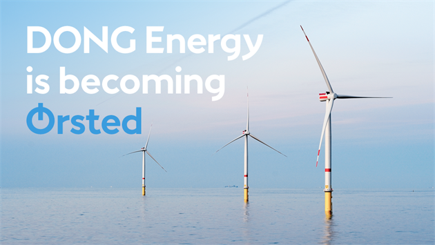 Orsted : Nouveau nom de Dong Energy