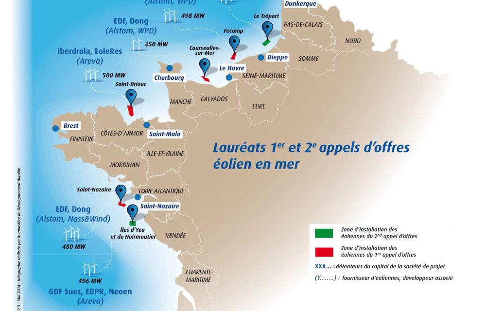 Le parc éolien en mer Dieppe-Le Tréport à l'agenda de Nicolas Hulot