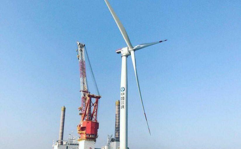 La première éolienne Haliade 150-6MW a été installée en Chine