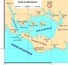 Carte golfe du morbihan