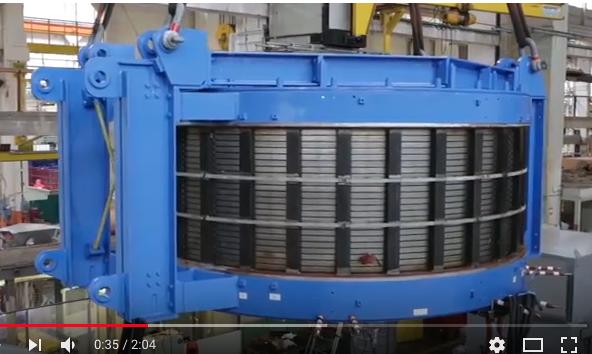 Jeumont Electric : Le rotor supraconducteur d'Ecoswing est à Bremervahen