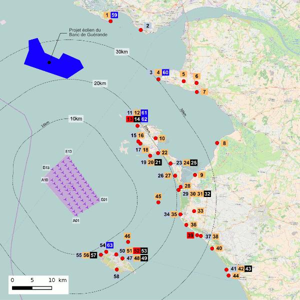 Parc éolien en mer au large des îles d'Yeu et de Noirmoutier : Avis de l'Autorité environnementale du CGEDD