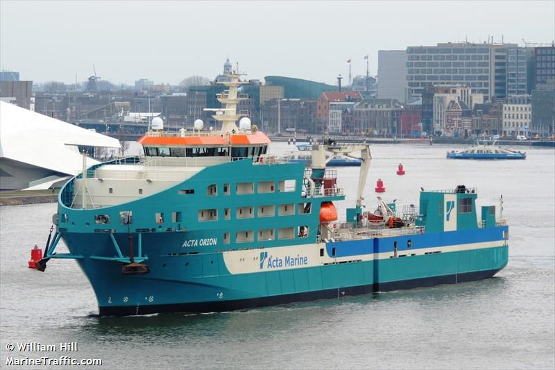 Merkur : le navire Acta Orion renforce Tideway