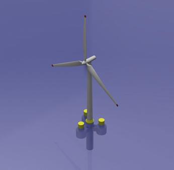 Fondation flottante : OceanFlow Energy associée à l'équipe Marine Offshore Renewable Energy
