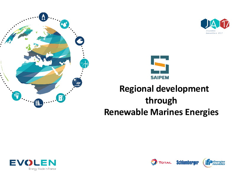 Tour d'horizon présenté par Saipem des infrastructures réalisées en France pour accueillir les énergies renouvelables marines.