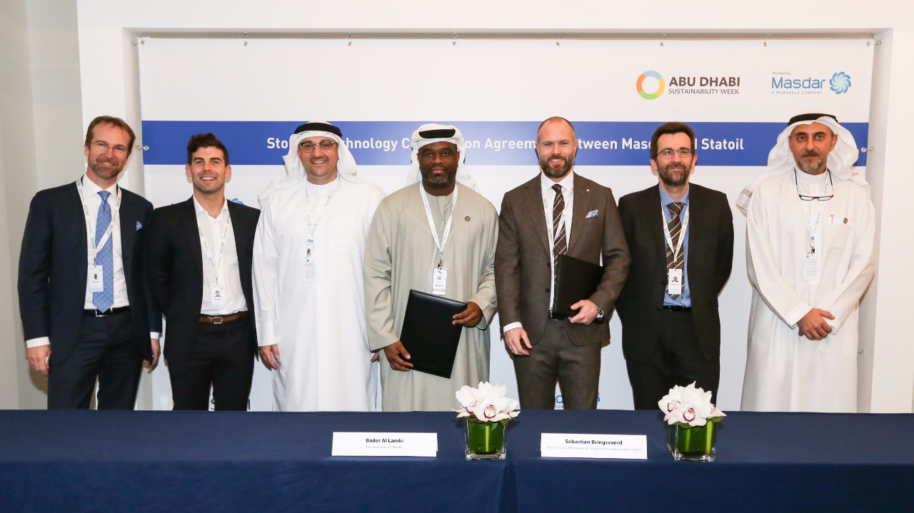 Masdar and Statoil Collaborative Agreement Signing Batwind
