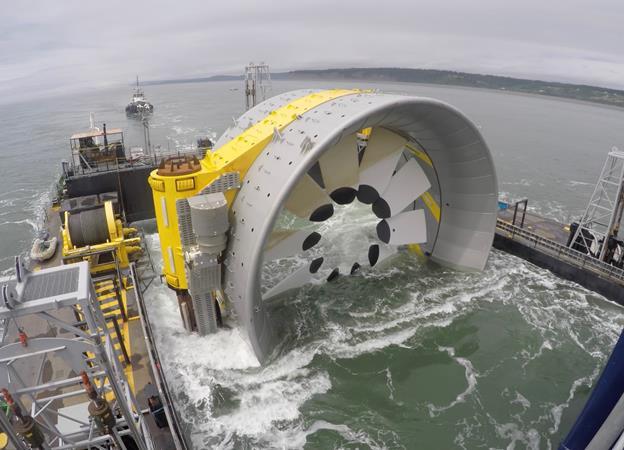 OpenHydro est connectée au réseau électrique de FORCE dans la baie de Fundy