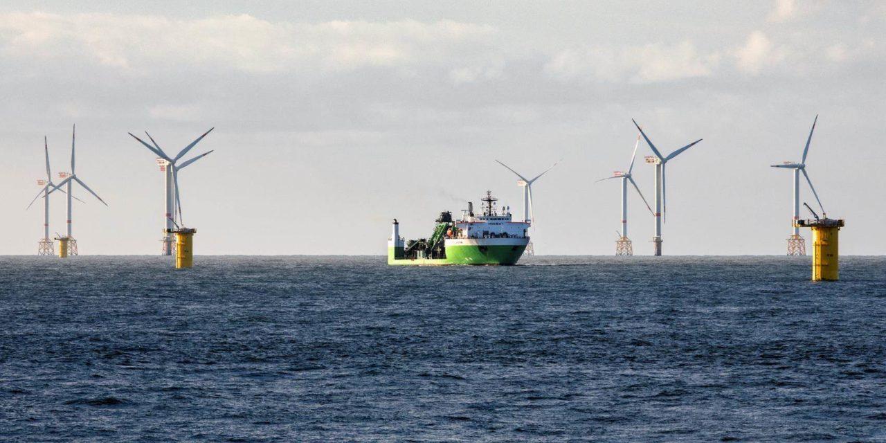 1 million de belges sont fournis en électricité par de l'éolien offshore