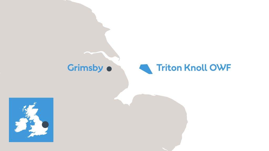 Triton Knoll : la moitié des éoliennes du parc en mer sont posées