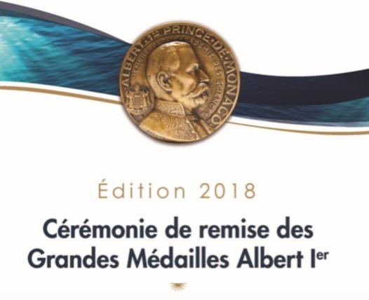 L'Institut océanographique Monaco remet ses quatre médailles Albert 1er pour 2018