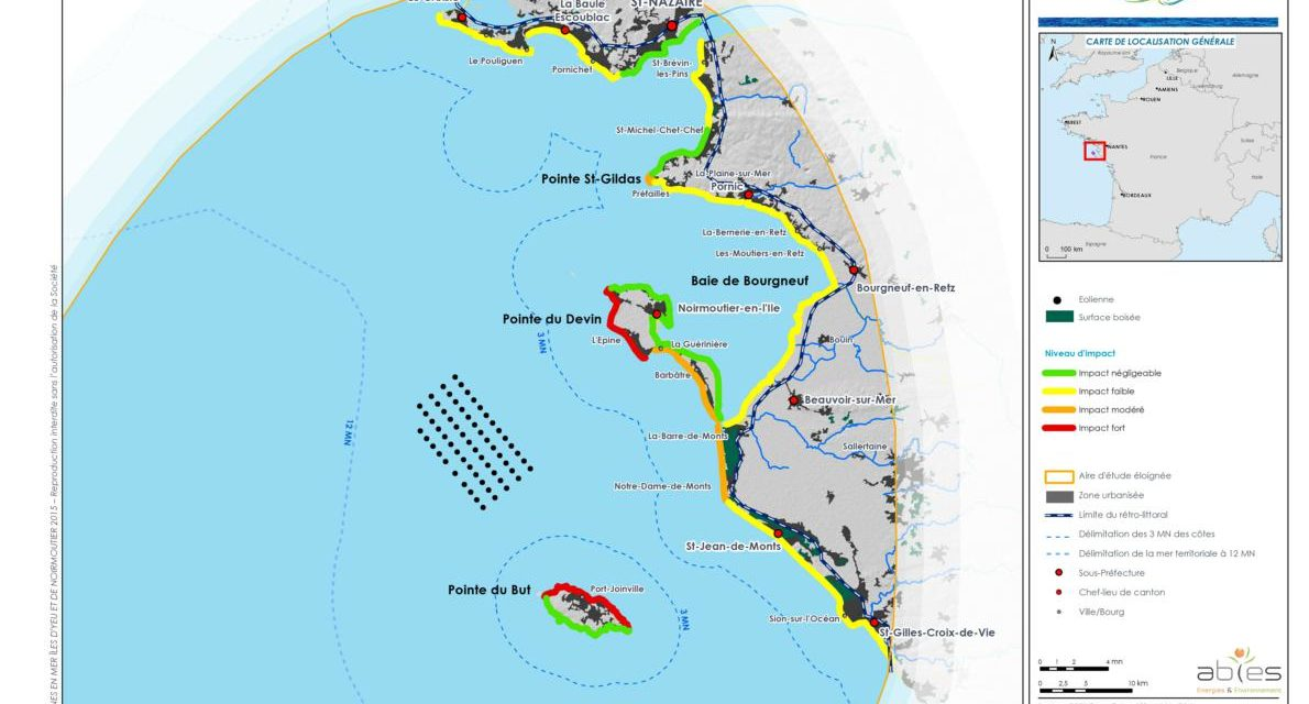 Offshore wind turbines of the islands of Yeu and Noirmoutier: green light