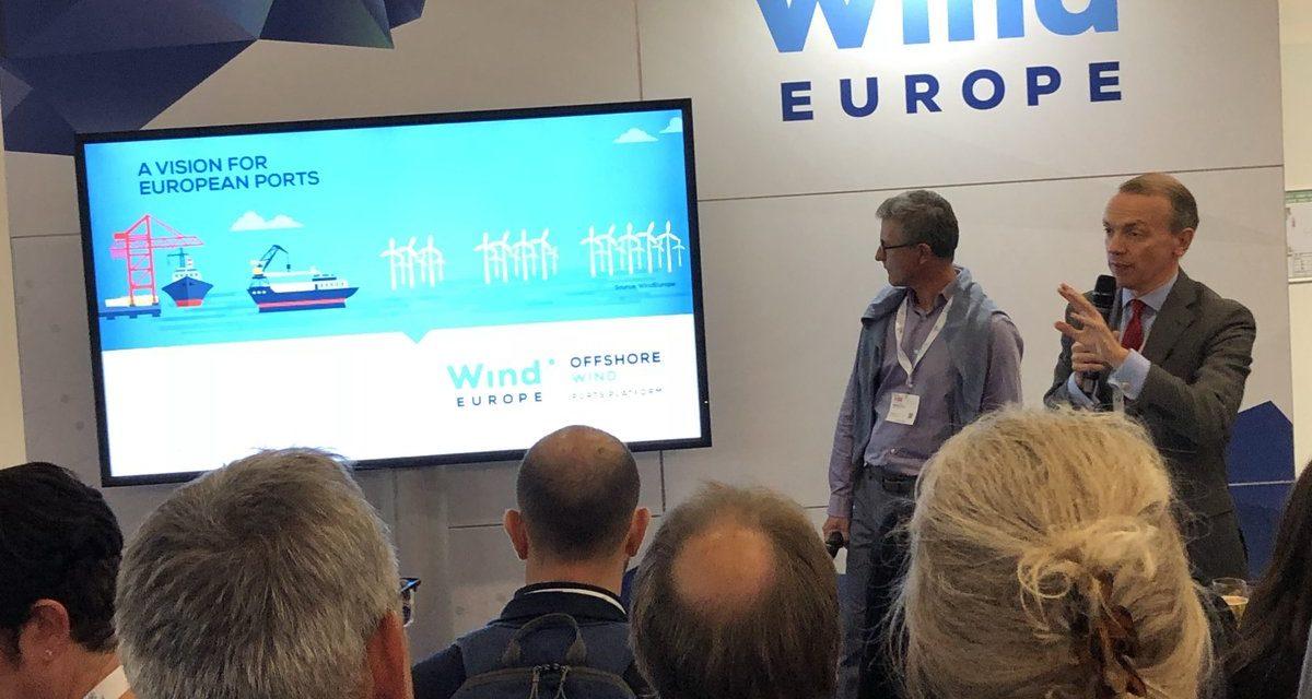 Aménager les ports pour l'éolien offshore : Les chiffres clés de WindEurope