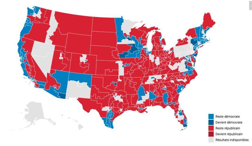 USA : La Chambre devient bleue, le Sénat reste rouge