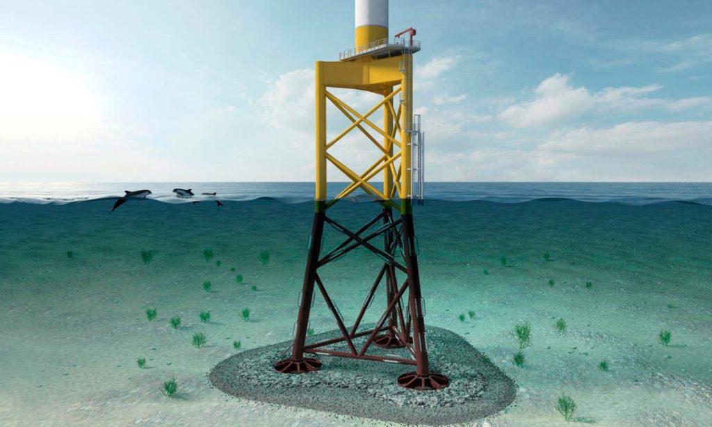 Les fondations du futur pour les parcs éoliens posés en mer