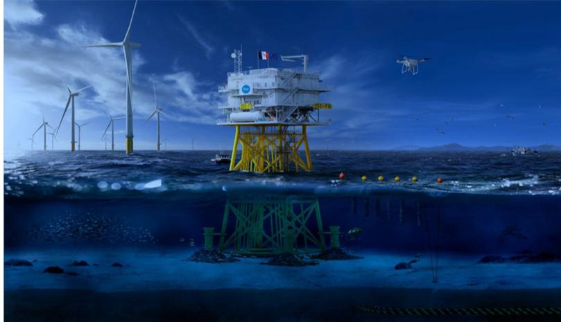 RTE et la Communauté urbaine de Dunkerque, lancent un appel à projets pour la future plateforme électrique en mer