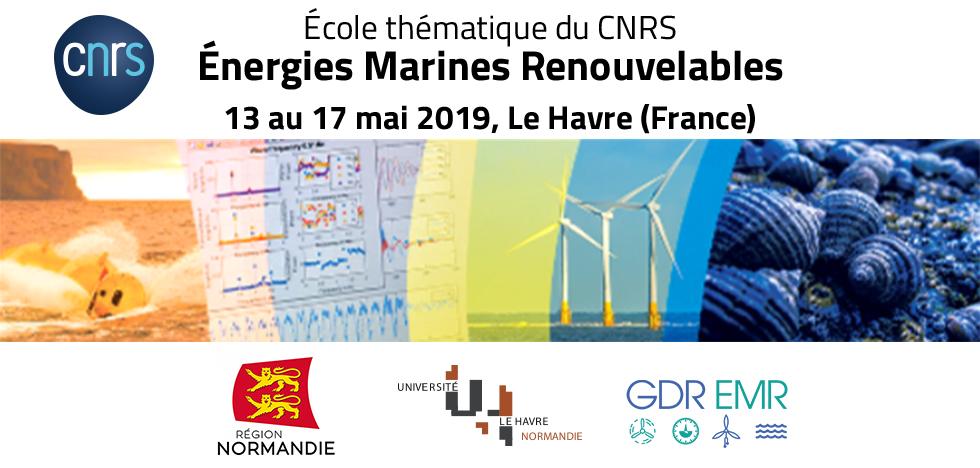 GdR CNRS 3763 Nouvelle édition de l'École Thématique sur les Énergies Marines Renouvelables