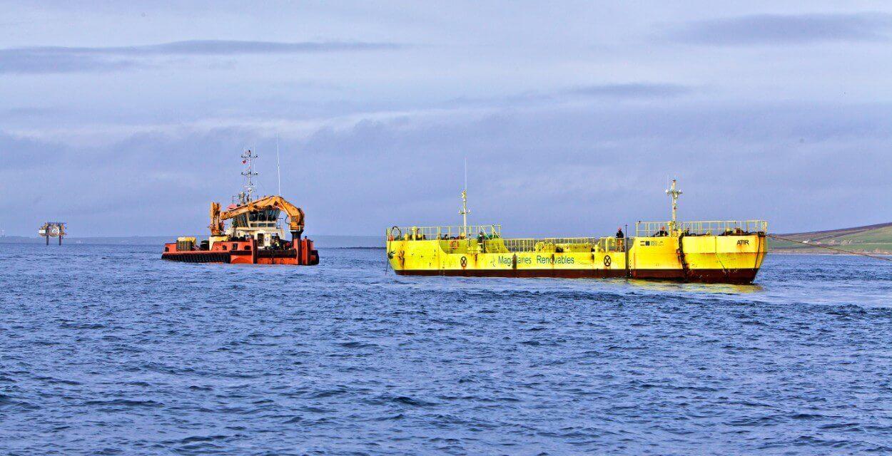 L'installation réussie d' «ATIR» de Magallanes Renovables à l'EMEC