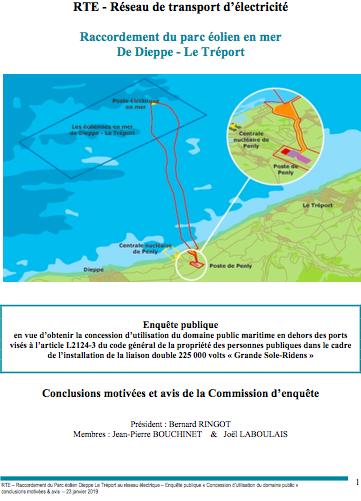 Parc en mer Dieppe Le Tréport : Avis favorable pour RTE