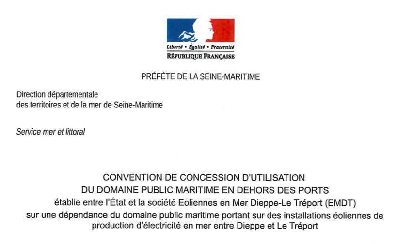 Dieppe-Le Tréport : La convention de concession du domaine publique est signée et l'Arrêté est paru