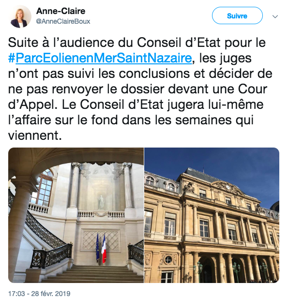 Le Conseil d'Etat : Parc de Saint-Nazaire en délibéré prolongé