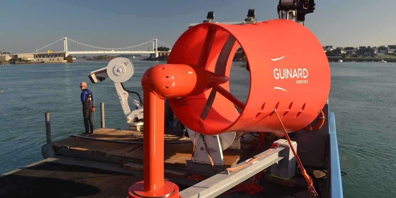 L'hydrolienne P154 de Guinard Energies en phase avec Enercoop