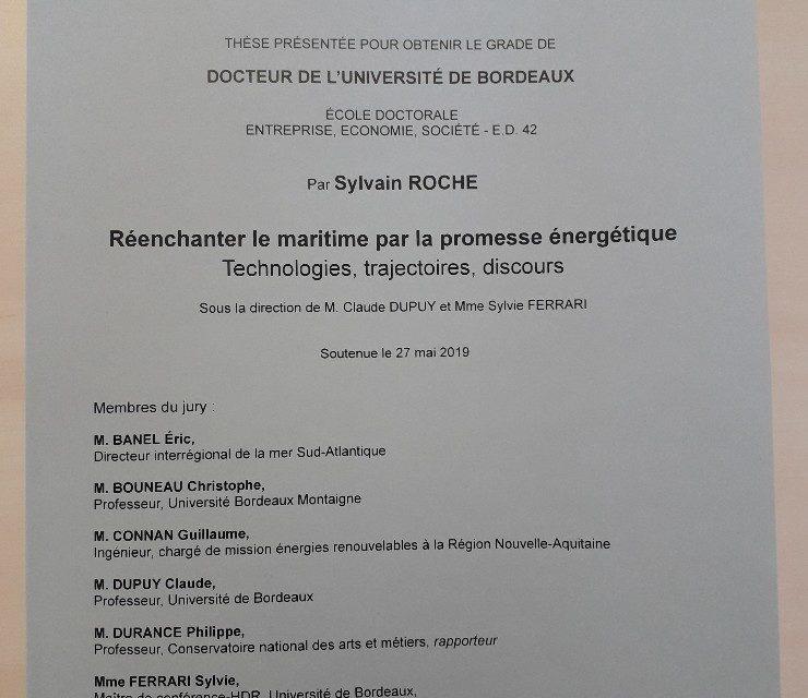 Une thèse «Réenchanter le maritime par la promesse énergétique»