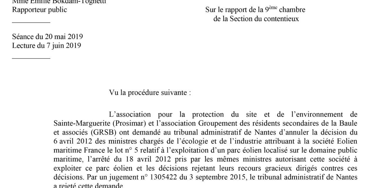 Parc éolien en mer de Saint Nazaire : Le conseil d'Etat valide