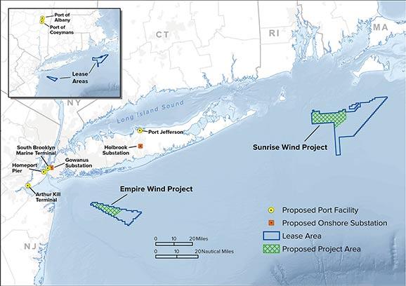 L'Etat de New York signe avec Equinor US et la JV Ørsted A / S et Eversource Energy pour construire le plus grand parc éolien en mer