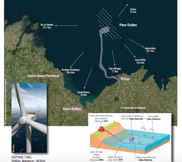 Le Conseil d'État rejette les recours contre la création  du parc éolien en mer au large de Saint-Brieuc