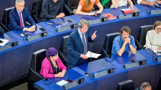 David Sassoli élu président du Parlement européen