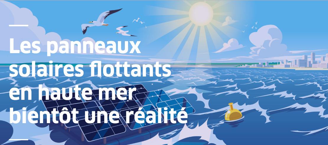 La Belgique avance sur un projet solaire marin