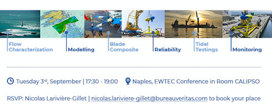 """EWTEC Side Event """"Real Tide Project – Tidal Energy"""